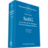 StrEG - Gesetz über die Entschädigung für Strafverfolgungsmaßnahmen